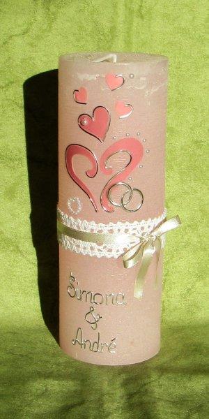 Altrosa-Rosa-Silber auf Rosa