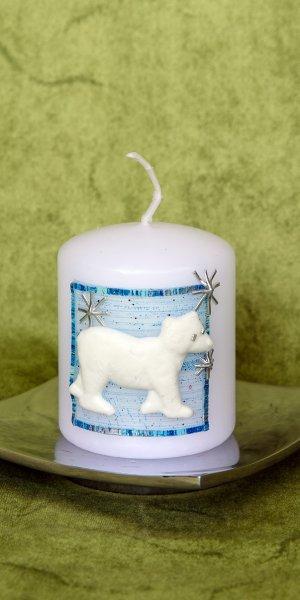 Weihnachtskerze Eisbär 1