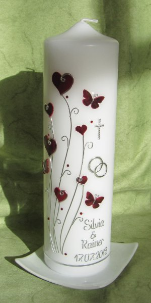 Bordeauxrot-Silber