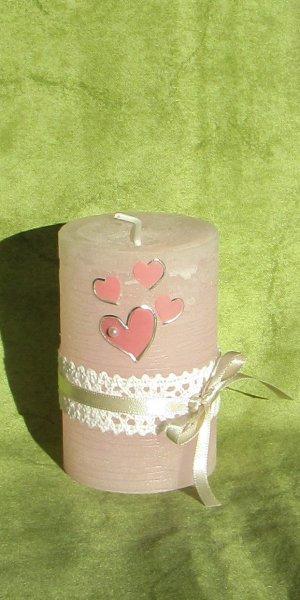 Altrosa-Silber 4 auf Rosa