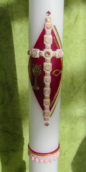 Weinrot-Kreuz Rosa1-Gold