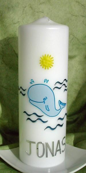 Taufkerze Wal