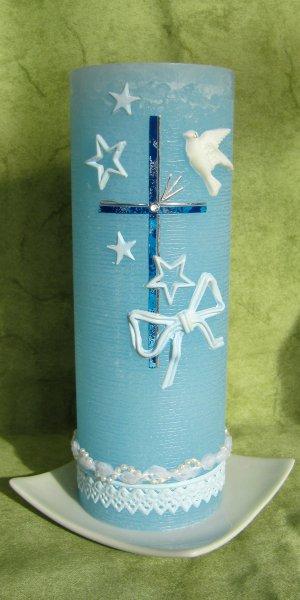 Blau-Silber 30 auf Hellblau