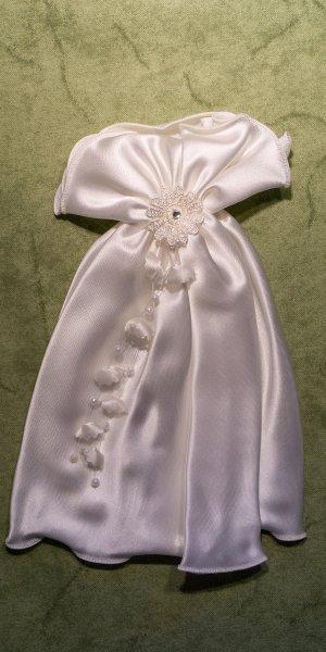 Tauf/Kommunionröckchen Blüten-Perlen elfenbein